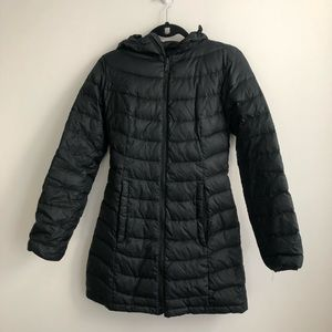 The North Face Black Long Down Parka